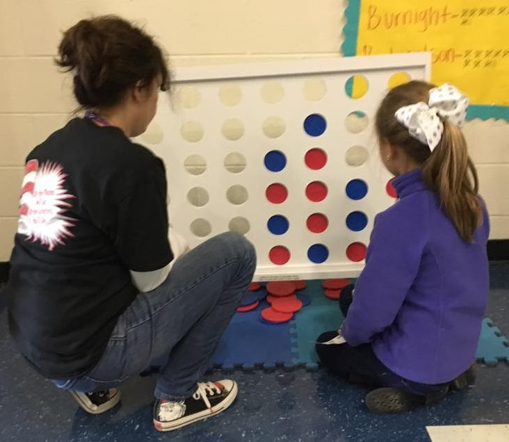 Giant Connect 4 - This 3 foot high game takes regular connect 4 to the next level!  Take turns sliding the discs in place and the one that stacks 4 in a row wins!