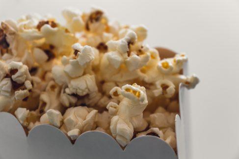 Popcorn in a popcorn bag